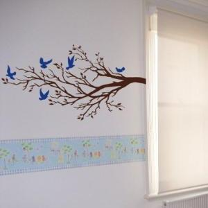 Wall Art Vinyl Decal FIVE BIRDS And..