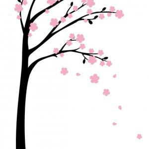 Blooms Tree Wall Decals Sticker Hom..