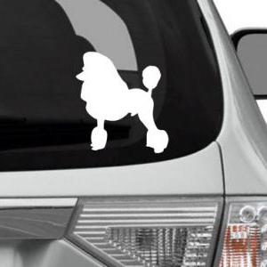 SALE - Poodle Dog Sticker Silhouett..