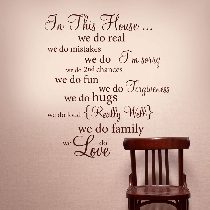 Word Wall Art Vinyl Lettering Home Decor ~ Wall decor vinyl words quotes room ornament