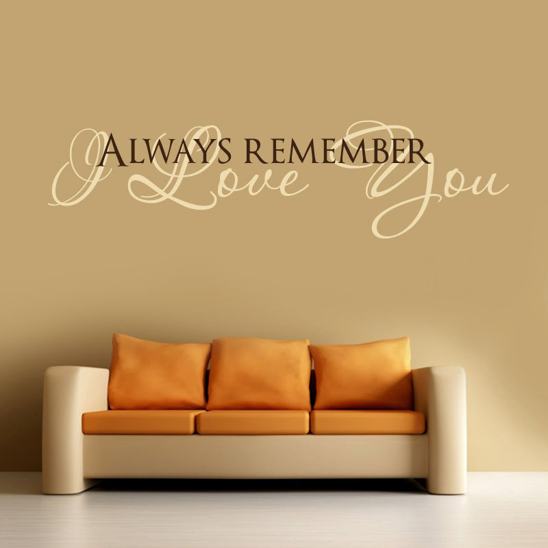 Love Quotes Vinyl Wall Art : I love you vinyl wall decal words lettering quote