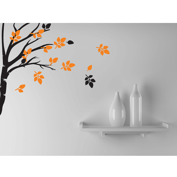 tree wall decal nature home decor wall sticker branch modern wall art decals - Home Decor Wall Art