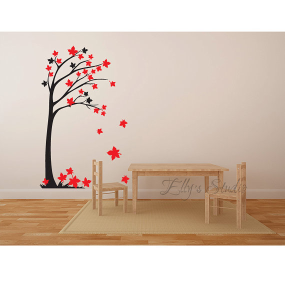 Tree Wall Art tree wall decor decal sticker wall art branches and leaves four