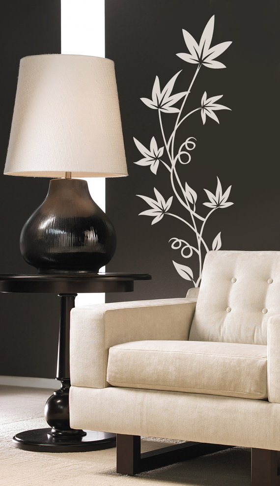 Art Flower Leaves Vinyl Wall Decal Sticker Floral Design Decor on