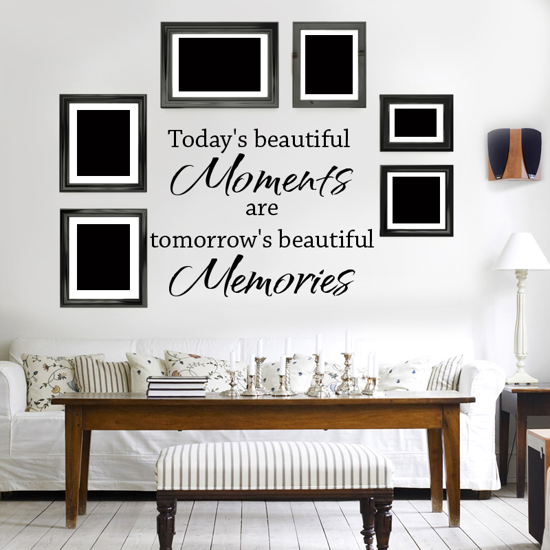 wall decal quotes todays beautiful moments wall decal art quote for home words design wall lettering memories for family - Design Wall Decal
