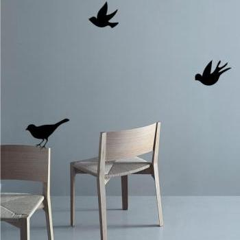 SALE - Buy 2 Get 1 free Three Little BIRDS Home Art Decor Mural Wall Sticker Decal