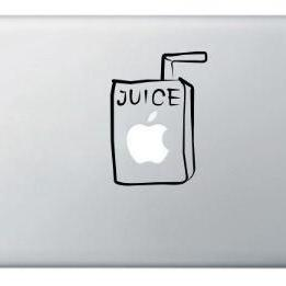 Buy 2 get 1 Free Apple Juice Box Vinyl Sticker, Decal for Macbook, Macbook Pro, IPad, Laptops - SALE