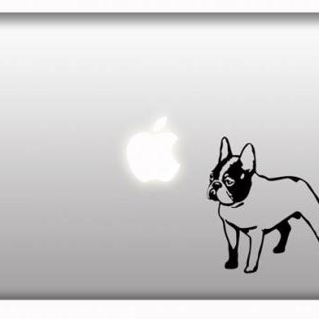 French Bulldog Stickers for Macbook Apple Laptop Car Window Decal Set of 2