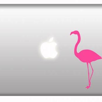 Pink Flamingo Art Macbook Decal Mural Got Flamingos what are decals