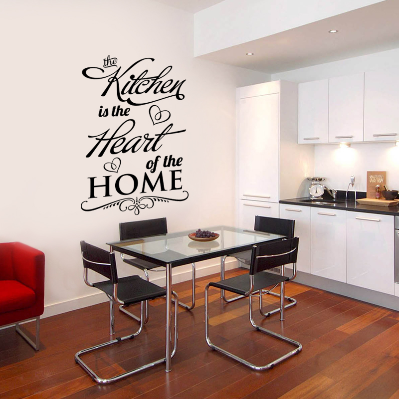 Wall Decal Quotes The Kitchen Is The Heart Of The Home