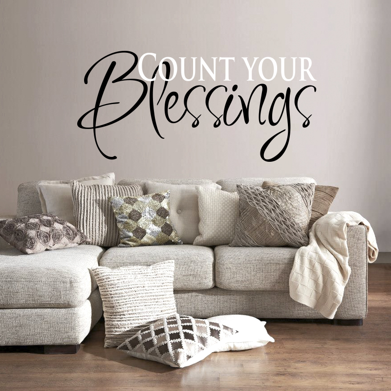 Wall Decal Quotes Count Your Blessings Art Sticker For